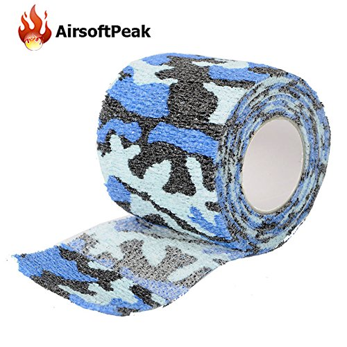 - Camo Form Wrap Camo Grip Tape - Army Elastic Stealth Tape Military Waterproof Camouflage Camo Wrap Tapes Paintball Gun Shooting Stretch Bandage Hunting Tools - Self Grip Bandage (Ocean Camo)