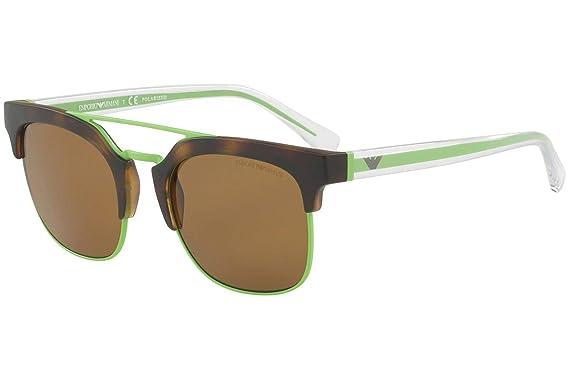 93df27920d76 Amazon.com  Emporio Armani EA4093 Sunglasses Matte Havana Green w ...