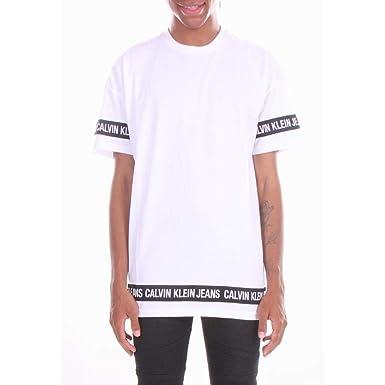Calvin Klein Logo Tape SS - T-Shirts - Chemise - L Hommes  Amazon.fr ... 63563f93e469