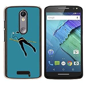 EJOOY---Cubierta de la caja de protección para la piel dura ** Motorola Moto X3 3rd Generation ** --Cuerpo divertido la escena del crimen