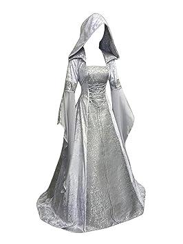 Guiran Mujer Vintage Disfraz Medieval Vestidos Largo con ...