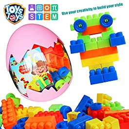 JOYSJOYS STEM Learning Toys Creative Construction Engineering Building Toy Set for Boys & Girls Ages 3 and Up, Fun Educational Building Toys & Top Blocks Game Kit
