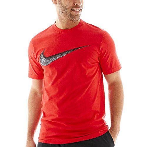 Nike Men's Sportswear Swoosh T-Shirt Black/Sport Red XX-Large