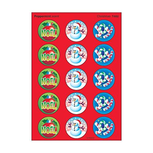 TREND enterprises, Inc. Christmas/Peppermint Stinky Stickers, 60 ct.