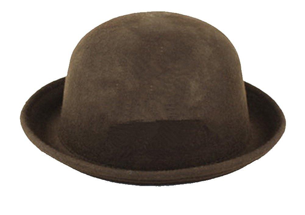 richmondcup Smallwise Trading 1 St/ück Melone Bowler M/ütze Hut Bowlerhut Bowlerhat Filzhut Chaplin Hat Reithut Hat-001