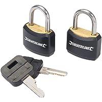 Silverline 663004 - Candados con cierre de una sola llave, 2 pzas (20 mm)