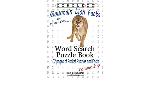 Circle It, Mountain Lion and Vicious Critters Facts, Pocket