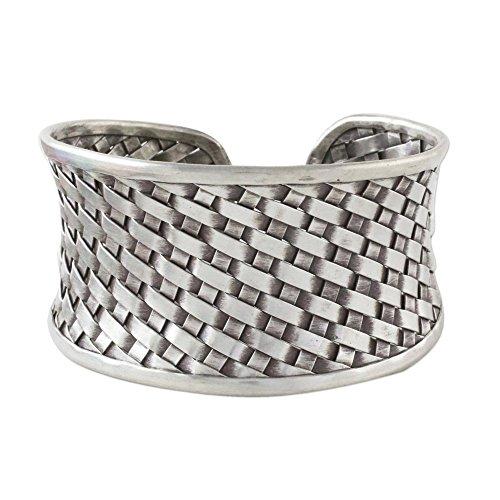 (NOVICA .925 Sterling Silver Cuff Bracelet 'Thai Weave')