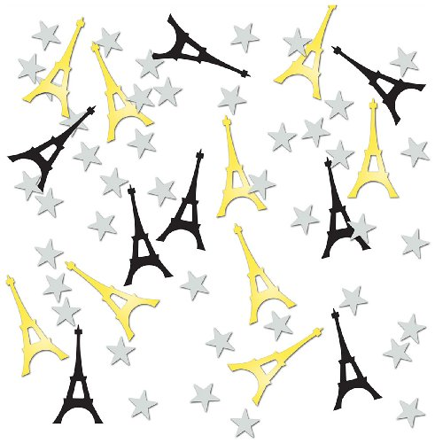 Beistle CN300 Eiffel Tower Confetti, 1/2-Ounce -
