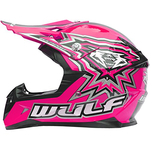 Red M Wulfsport Flite Children Kids Motocross Helmet Motorbike Motorycle Child Dirt Bike ATV Helmet
