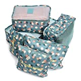 Travel Storage Bag - SODIAL(R)6Pcs Waterproof Clothes Travel Storage Bags Packing Cube Luggage Toiletry Bag Organizer Pouch Home Organization Blue