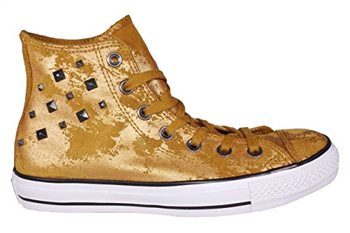 Converse Silver Hardware Sneakers Gold Women's 100 Star Chuck Leather Taylor All rArfH