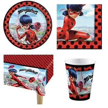 Milaculous Ladybug Party Pack – Pack de 8 invitados: Amazon ...
