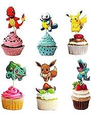 Pikachu Cupcake Figuren, Pokemon Taarttoppers, Pikachu Taartdecoratie, Verjaardagsfeestje Decoratie voor Kinderen, Pokemon Cupcake Toppers, Feestdecoratie Levering voor Kinderen Verjaardag, 120 Stuks