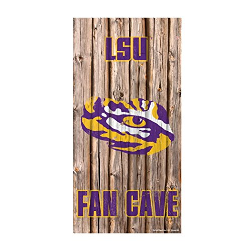 Lsu Tigers Official NCAA Wall Sign 6x12 wood by Wincraft (Louisiana State University Wall Clock)