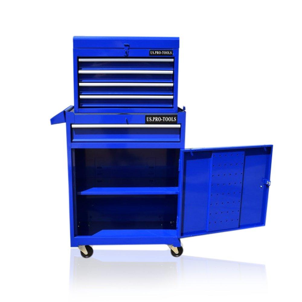 Us Pro Tools Armario azul con ruedas y rodamiento de bolas