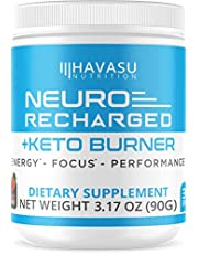 Extra Strength Keto Brain Supplement for Energy & Focus - Mental Performance Nootropic & Pre Workout with Natural Caffeine, Ginkgo Biloba & More – No Crash, No Jitters Brain Booster Stack 3.17 oz