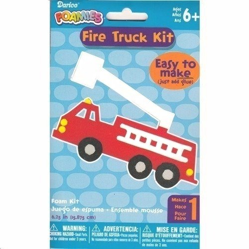 Fire Truck Foamies Craft Kit (Easy To Make, Just Add - Craft Glue Foamies