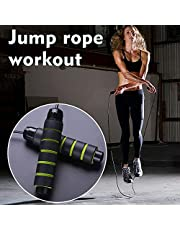 Decdeal Jump Rope Fast Rope Skipping Adjustable Foam Anti Skid Handle skipping rope New Fitness speed rope for Men and Women Suitable for Aerobic Exercise