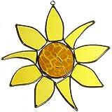 American Made Sunflower Art Glass Sun Catcher