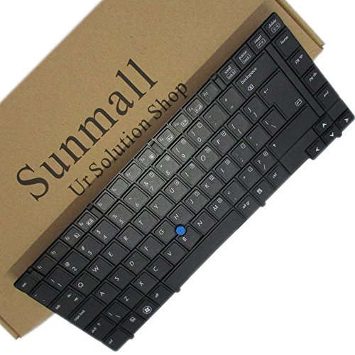SUNMALL New Keyboard Replacement with POINTER for HP EliteBook 8440p 8440w series Black US Laptop Compatible with Part Number 594052001 598042001