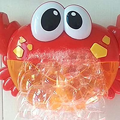 Zpzzy Crab Spit Bubble Machine Blowing Infant Bathtub Children Bathing Baby Bathroom Bath Toys Play Water from Zpzzy