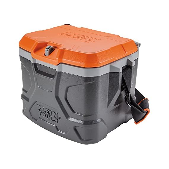 Work-Cooler-17-Quart-Keeps-Cool-30-Hours-Seats-300-pounds-Tradesman-Pro-Tough-Box-Klein-Tools-55600-2-Pack