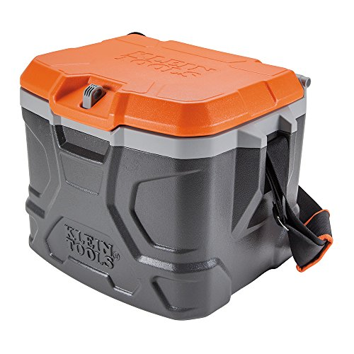 - Work Cooler 17-Quart, Keep Cool 30 Hours, Seats 300 Pounds, Tradesman Pro Tough Box Klein Tools 55600