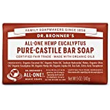 Dr. Bronner's Magic Soaps Pure-Castile Soap, All-One Hemp Eucalyptus, 5-Ounce Bars (Pack of 6)