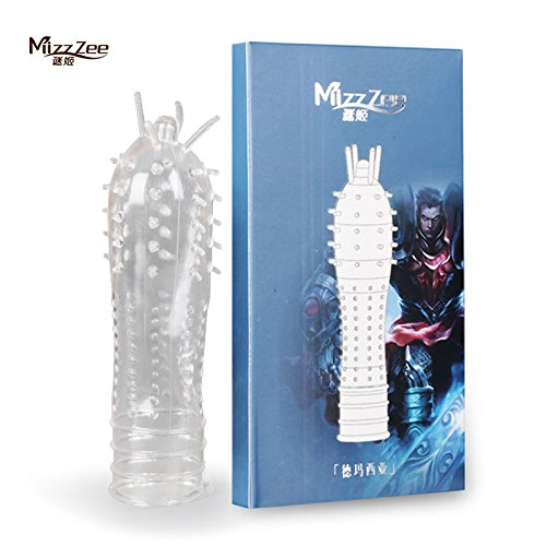Caroline Giron MizzZee 4 pcs/lot Spike crystal G spot stimulate penis condom extender enlarge penis sleeve adult sex toys for men sex products