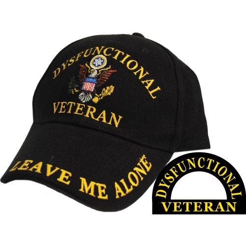 (Dysfunctional Veteran Direct Embroidered Hat - Black - Veteran Owned)