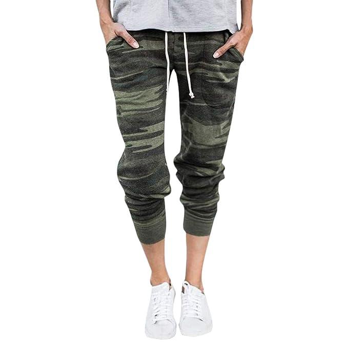 8455ccc853 kunfang Mujer Pantalones Deportivos Cintura Alta Pantalones De Yoga  Elasticidad Pantalones De Jogging Camuflaje Pantalones De Harén  Amazon.es   Ropa y ...