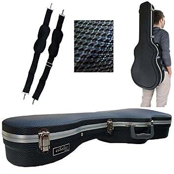 Estuche ABS para Guitarra Clásica, marca Cibeles (Azul Cuadritos)