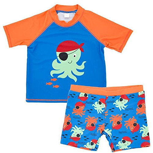 8f8dcc4fab Collager Toddler Baby Boys Two Pieces Swimsuit Set Kids Cartoon Animal Swimwear  Rashguard Bathing Suit UV