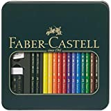 Faber-Castell Polychromos + Castell 9000 Pencils in Tin Box Artists' Pencils (18-110040)