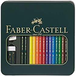 Faber-Castel 16 Piece Polychromous Mixed Media Colored Pencil Set in Metal Tin