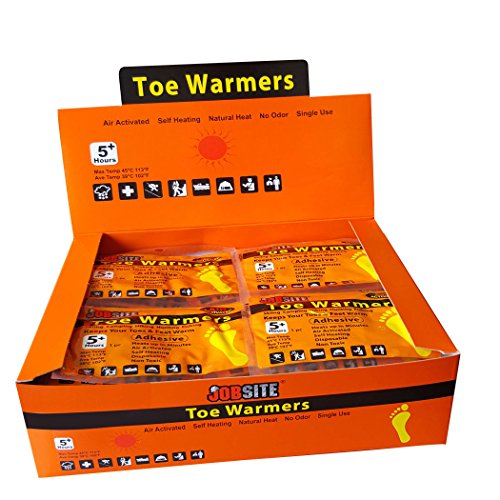 JobSite Comfort Toe Warmers - Quick Long-lasting Heat - Great for Sporting Events & Winter Activities - 40 (Disposable Foot Warmers)