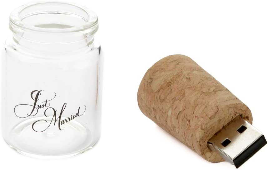Single Item USB 2.0 Message in a Bottle Design 1-8GB Flash Drive Bottle with Cork Flash Drive.