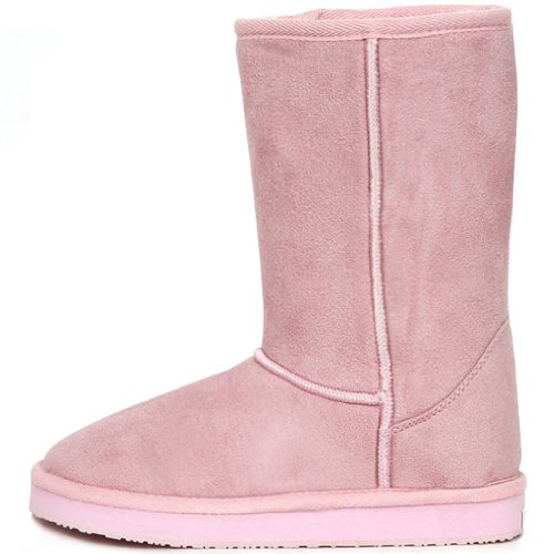 New Fashionable Snow Warm Boots Shearling Womens Basic Winter Shoes Pink B6jpgUl