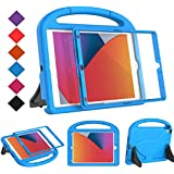 "BMOUO Kids Case for New iPad 10.2 2020/2019 - iPad 8th/7th Generation Case with Built-in Screen Protector, Shockproof Light Weight Handle Stand Kids Case for iPad 10.2"" 2020/2019 Latest Model - Blue"