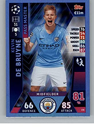 2b15b6cf7 2018-19 Topps UEFA Champions League Match Attax #156 Kevin De Bruyne  Manchester City