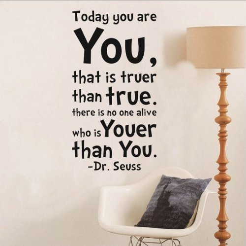 NYKKOLA Dr Seuss Today You Are You Wall Art Vinyl Decals Sti