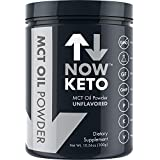 NOWKETO®® KetoMCT Oil Powder from Coconuts | Low Carb High Fat | Medium Chain Triglyceride | Ketogenic Diet Supplement | Activates Ketosis & Boosts Ketones for Keto Diet. Great Keto Coffee Creamer.