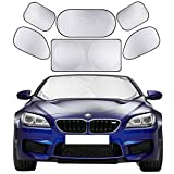 Best Car Sunshades - Cosyzone Windshield Sunshade 6 Pieces Car Sun Shade Review