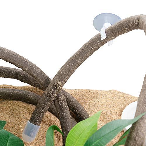 EONMIR 8-Foot Reptile Vines, Flexible Jungle Climber Long Vines Habitat Decor for Climbing, Chameleon, Lizards, Gecko (Thick Vines)