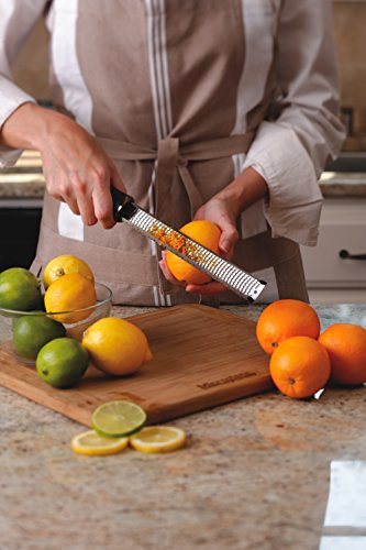 Microplane Premium Zester Grater - made in USA stainless steel blade -for zesting citrus and grating cheese -Soft touch handle - Black by Microplane (Image #8)