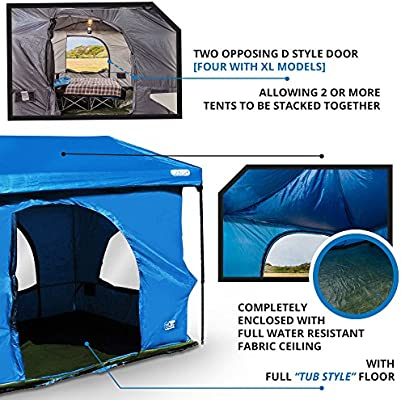 The Original Authentic Standing Room Family Cabin Tent 8 5 Feet Of Head Room 2 Or 4 Xl Models Big Screen Doors Fast Easy Setup Fits Most 10x10