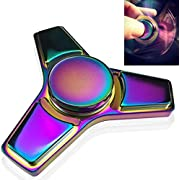 Fidget Spinner, Greatever EDC Tri Fidget Hand Spinning Toy Time Killer Stress Reducer High Speed Focus Toy Gifts Perfect for ADD, ADHD, Anxiety, Boredom and Autism Adult Kids