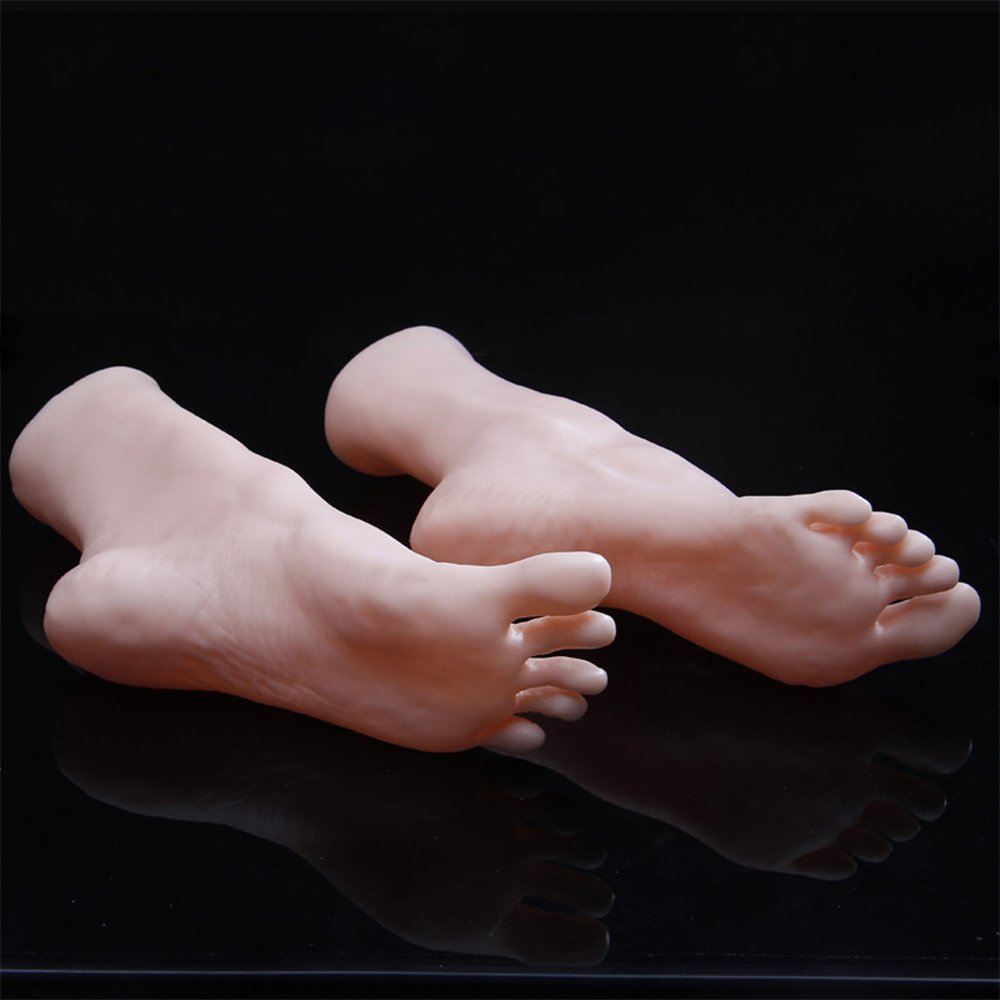 Silicone Feet Silicone Mannequin Silicone Lifesize Female Mannequin Foot 1 Pair Display Jewerly Sandal Shoe Sock Display Art Sketch Foot Toys