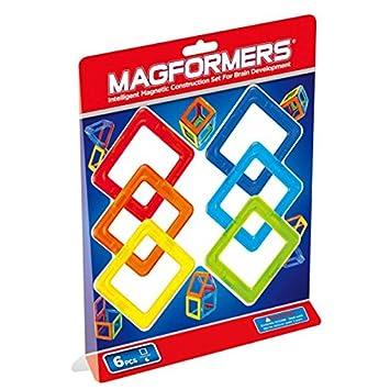 Magformers - 2042611 - Jeu De Construction - Carré - 6 Pièces - version import